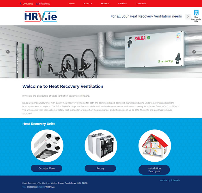 HRV.ie are the distributors of Salda ventilation equipment in Ireland.