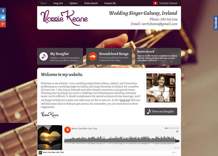 Norrie Keane Wedding Singer